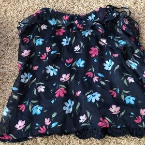 Abercrombie kids navy floral cami